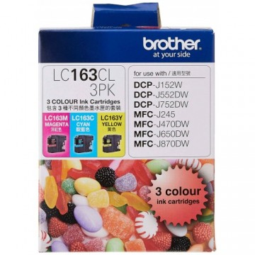 Brother Ink Cartridge (LC163CL-3PK) Colour