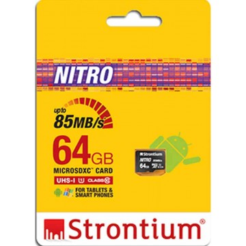 Strontium New Nitro MicroSD Memory Card 64GB