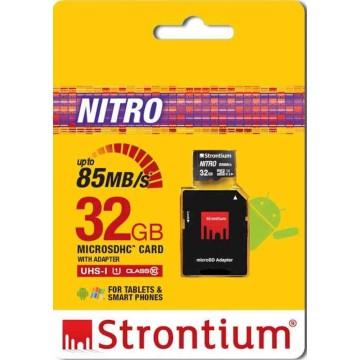 Strontium New Nitro MicroSD Memory Card w/Adapter 32GB
