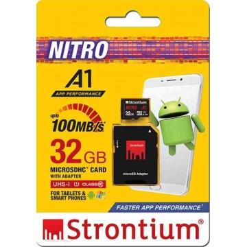 Strontium Nitro A1 MicroSD Memory Card w/Adapter 32GB