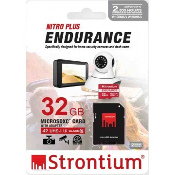 Strontium Nitro Plus Endurance MicroSD Memory Card w/Adapter 32GB