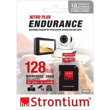 Strontium Nitro Plus Endurance MicroSD Memory Card w/Adapter 128GB