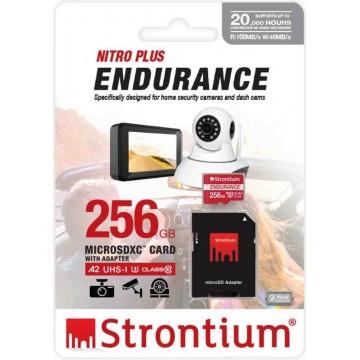 Strontium Nitro Plus Endurance MicroSD Memory Card w/Adapter 256GB