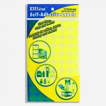 Colour Round Labels 13mm