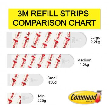 3M Command Damage-Free Hanging Refill Strips Large 8'S 2.2kg