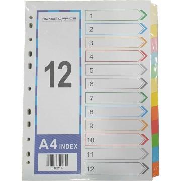 Paper Divider 12-Colour (4 Sets) 120gsm A4