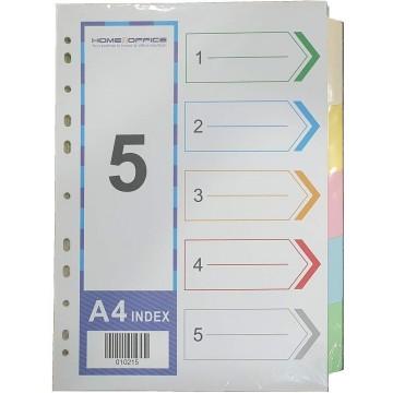 Paper Divider 5-Colour (10 Sets) 120gsm A4