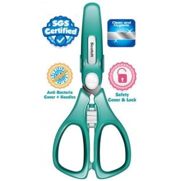 3M Scotch Antibacterial Portable Food Scissors w/Cover