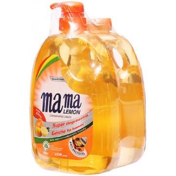 Mama Lemon Anti-Bacterial Dishwashing Liquid Fresh Citrus 1L + 1L