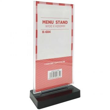 HnO Menu Stand - Flat Face 100mm x 200mm