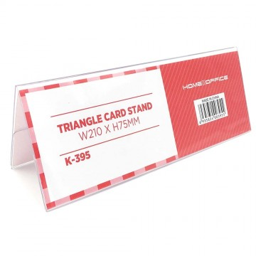 HnO Triangle Double-Sided Card Stand (210 x 75mm)