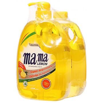 Mama Lemon Dishwashing Liquid Lemon Gold 1L + 1L