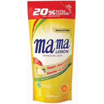 Mama Lemon Dishwashing Liquid Lemon Gold Refill 600ml