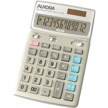 Aurora Adjustable Calculator (174 x 107 x 25mm) DT389 12 Digits