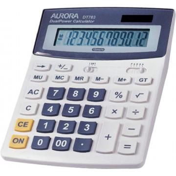 Aurora Desktop Calculator (198 x 134 x 35mm) DT703 12 Digits