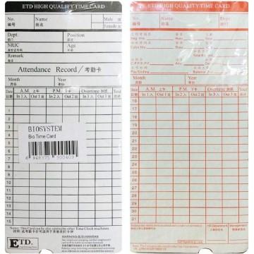 Biosystem Time Card 100'S