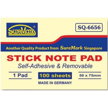"SureMark Stick Note Pad SQ-6656 (2"" x 3"")"