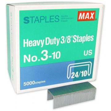 """Max Heavy Duty 3/8"""" Staples No.3-10 US"""