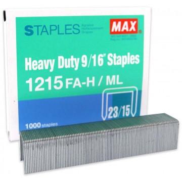 "Max Heavy Duty 9/16"" Staples 1215FA-H/ML"