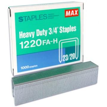 """Max Heavy Duty 3/4"""" Staples 1220FA-H"""