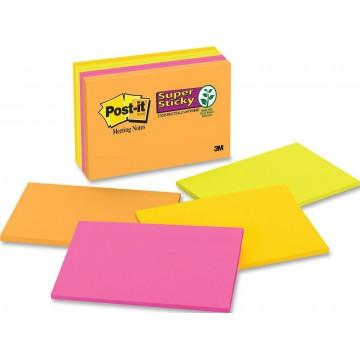 "3M Post-it Super Sticky Notes 6445-SSP (4"" x 6"") 8'S"