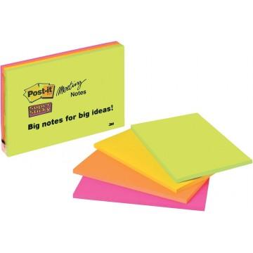 "3M Post-it Super Sticky Notes 6845-SSP (6"" x 8"") 4'S"
