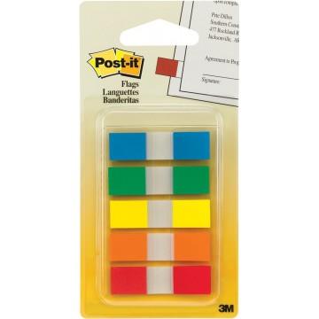 """3M Post-it Flags 683-5CF (0.5"""" x 1.7"""") 5-Colour"""