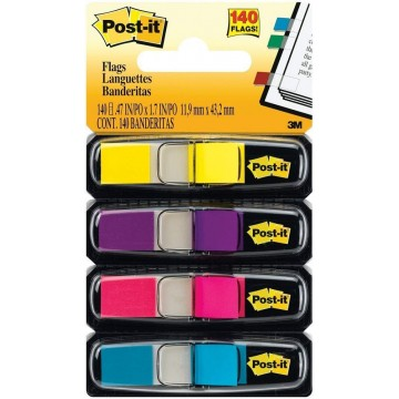 """3M Post-it Flags 683-4AB (0.5"""" x 1.7"""") 4-Colour"""