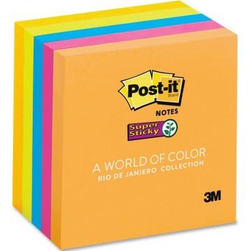 "3M Post-it Super Sticky Notes 654-5SSUC-C (3"" x 3"") Rio De Janeiro Collection"