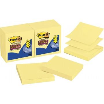 """3M Post-it Super Sticky Pop-Up Notes R330-12SSCY (3"""" x 3"""") 12'S"""