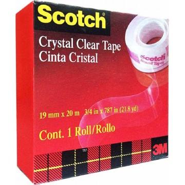 3M Scotch Crystal Clear Tape (19mm x 20m)