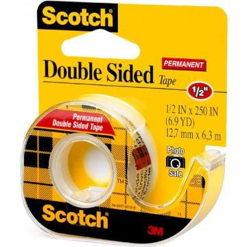 3M Scotch Double-Sided Tape w/Dispenser (12.7mm x 6.3m)