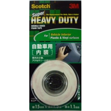 3M Scotch Super Heavy Duty Double-Sided Foam Tape KCP-15 (15mm x 1.5m) Vehicle Interior White