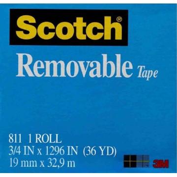 3M Scotch Removable Magic Tape (19mm x 32.9m)