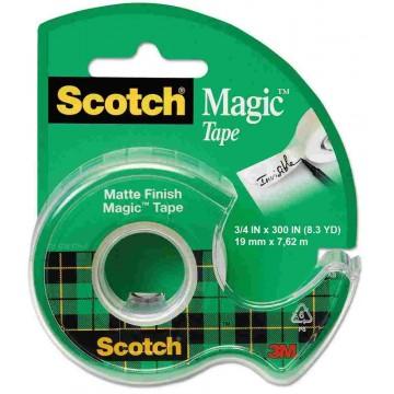 3M Scotch Magic Tape w/Dispenser (19mm x 7.62m)