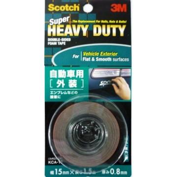 3M Scotch Super Heavy Duty Double-Sided Foam Tape KCA-15 (15mm x 1.5m) Vehicle Exterior Grey