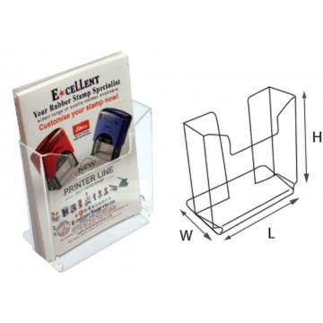 STZ Acrylic 1-Tier Brochure Holder A5 Vertical 2'S