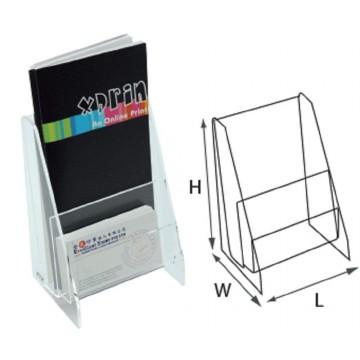 STZ Acrylic 2-Tier Brochure Holder DL Vertical