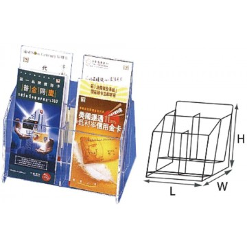 STZ Acrylic 3-Tier Brochure Holder (6 Pockets) DL Vertical