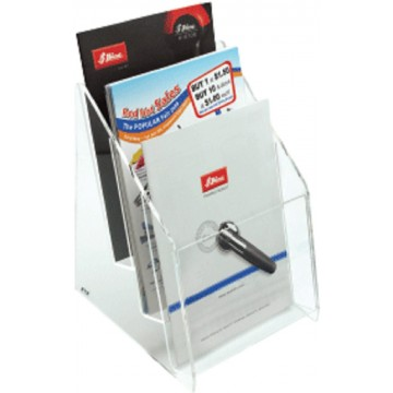 STZ Acrylic 3-Tier Brochure Holder A5 Vertical