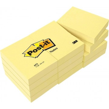 """3M Post-it Notes 653CY (1.5"""" x 2"""") 12'S"""