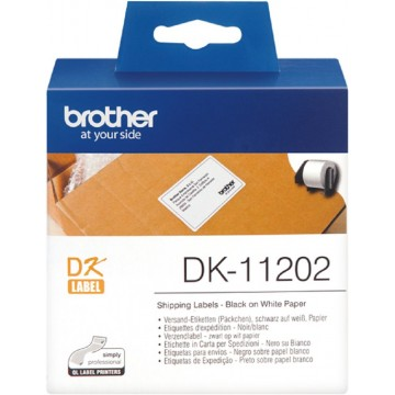 Brother Label Tape DK-11202 (62 x 100mm) - Pre-Order Only