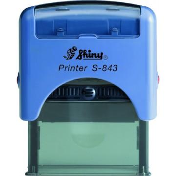 Shiny S-843 Custom-Made Self-Inking Stamp (47 x 18mm)
