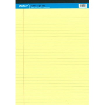 Besform Yellow Legal Pad A4