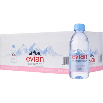 Evian Mineral Water 24'S 330ml