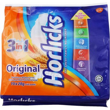 Horlicks 3-in-1 Original Malted Drink 10'S 28g