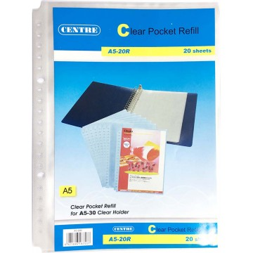 20-Hole Clear Book File Refill 20'S A5
