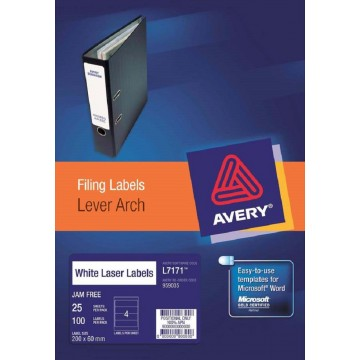 Avery Lever Arch Filing Labels 200'S (200 x 60mm)