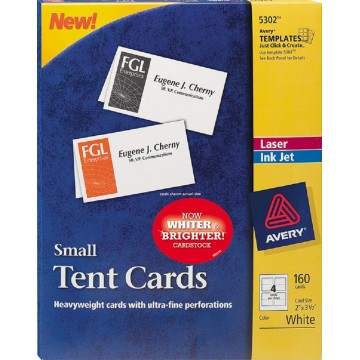 """Avery Small Tent Cards 160'S (2"""" x 3.5"""")"""