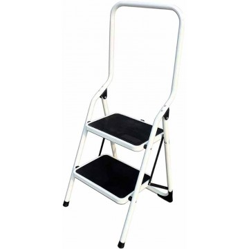2-Step Foldable Steel Ladder w/High Handle LY502